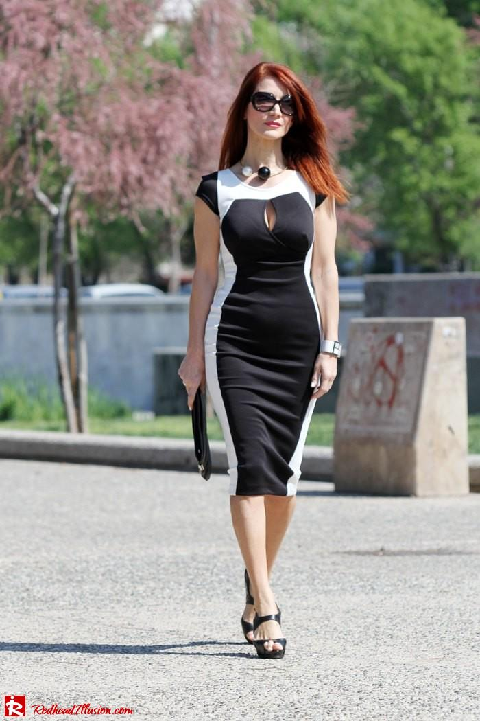 Redhead Illusion - Determined - Bodycon Midi Dress -03