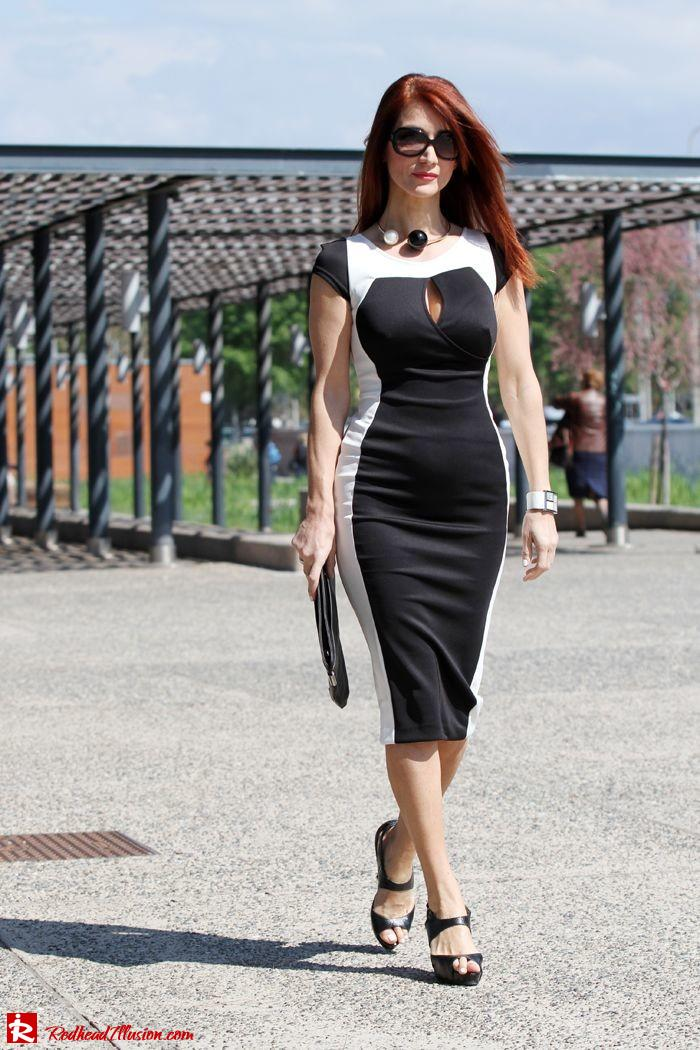 Redhead Illusion - Determined - Bodycon Midi Dress -04