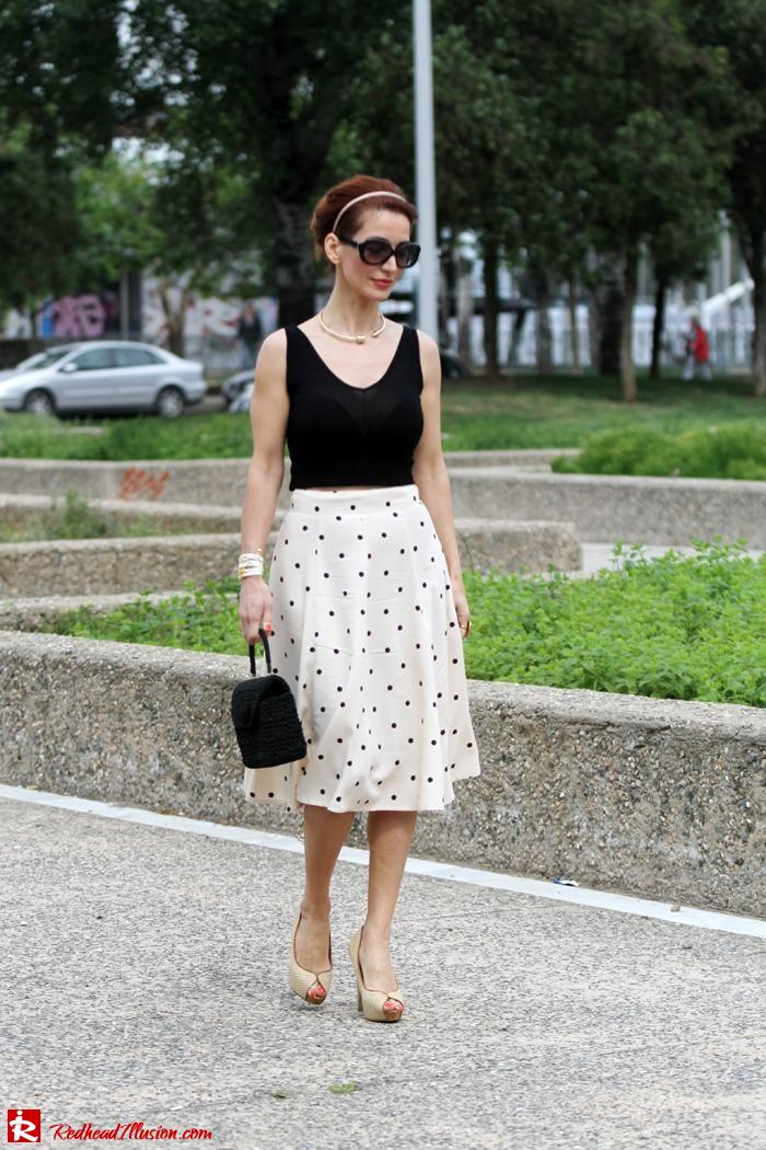 Redhead Illusion - Better late than never - polka dot skirt-07
