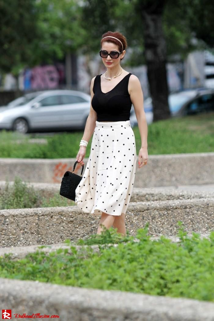 Redhead Illusion - Better late than never - polka dot skirt-08