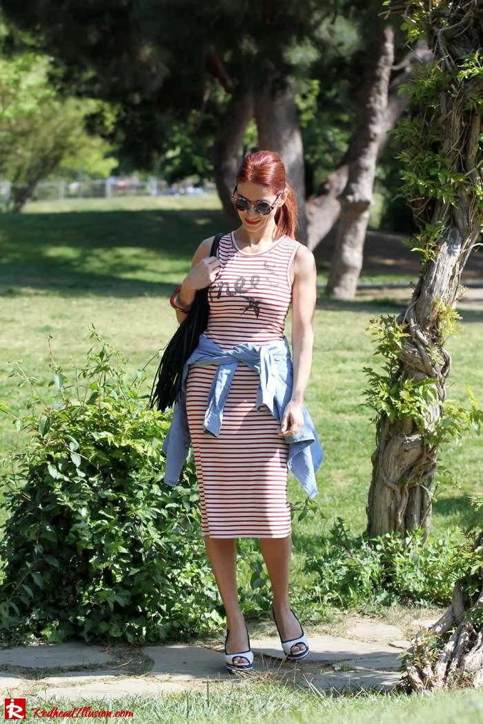 Redhead Illusion - Denim and stripes-03