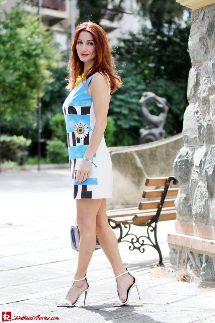 Redhead Illusion - Summer colors - mini dress-02