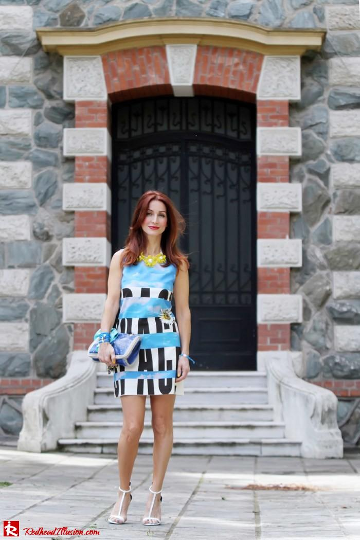 Redhead Illusion - Summer colors - mini dress-03