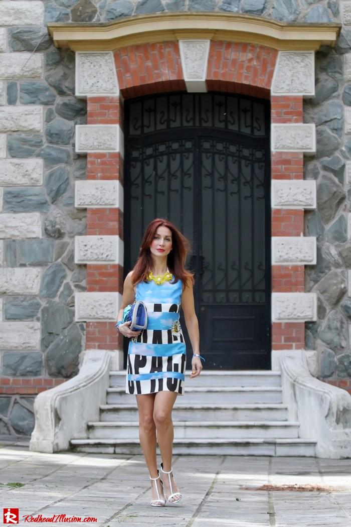 Redhead Illusion - Summer colors - mini dress-05