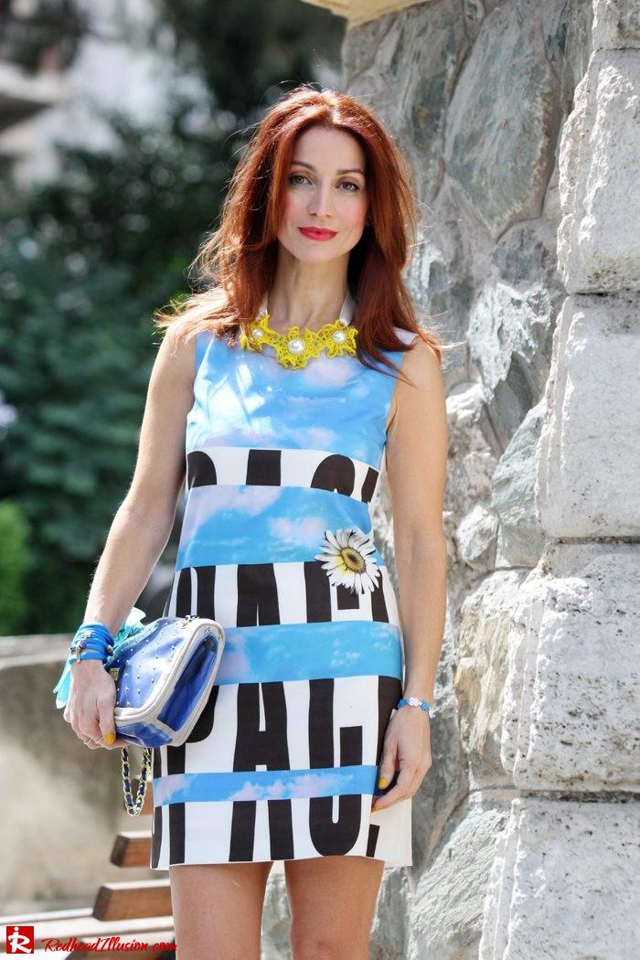Redhead Illusion - Summer colors - mini dress-06
