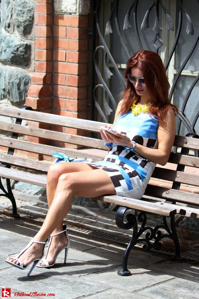 Redhead Illusion - Summer colors - mini dress-07