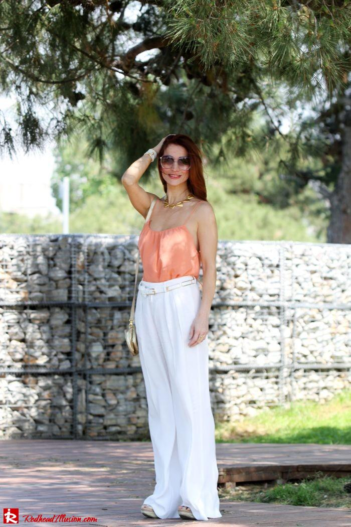 Redhead Illusion - Spaghetti time - Wide leg pants with thin straps top-07