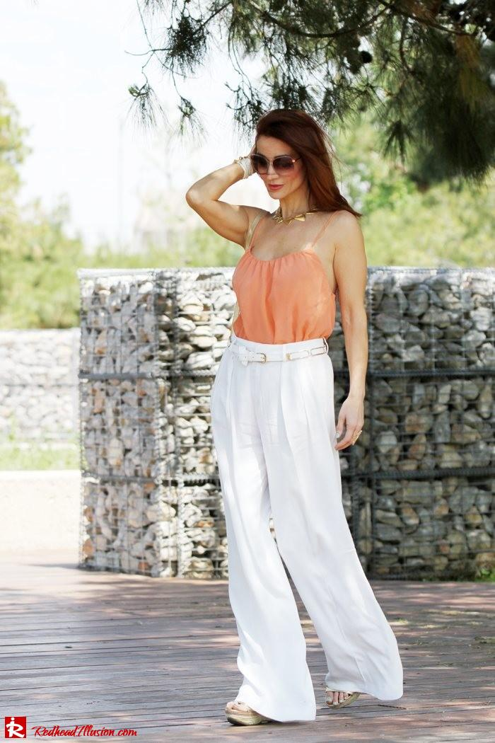Redhead Illusion - Spaghetti time - Wide leg pants with thin straps top-09