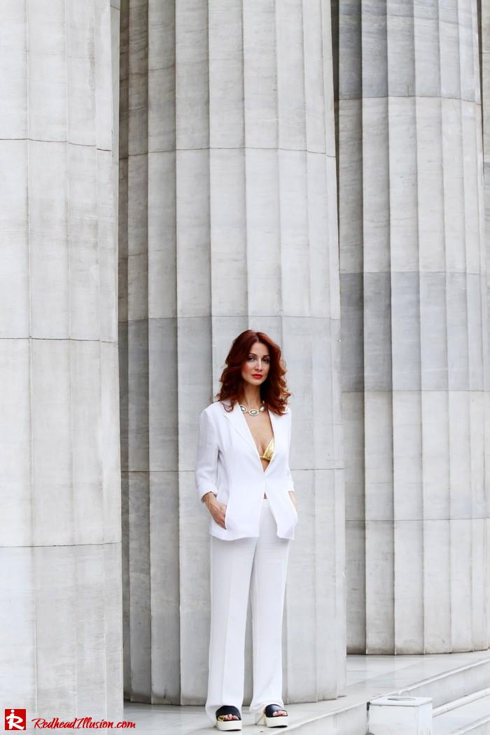 Redhead Illusion - Golden touch - White jacket- Androgynous style--02