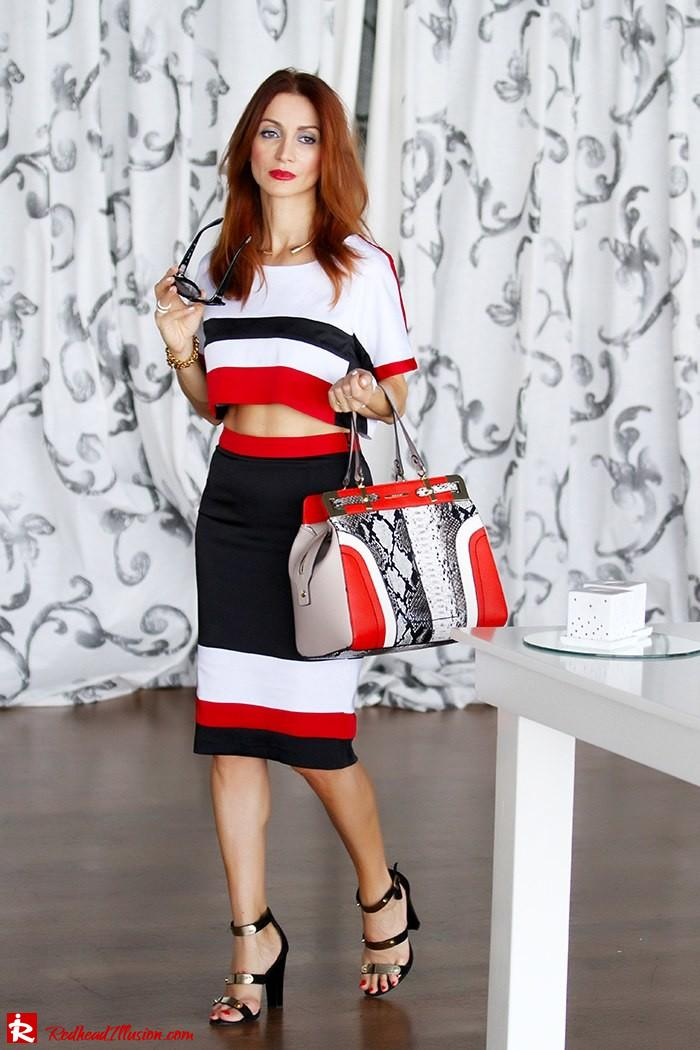 Redhead Illusion - Triple game - Colorful Skirt and Top-09