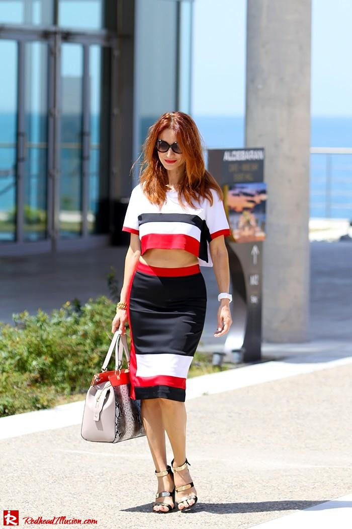 Redhead Illusion - Triple game - Colorful Skirt and Top-11