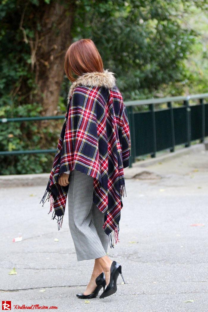 Redhead Illusion - Warm and cozy plaid - River Island Cape-05