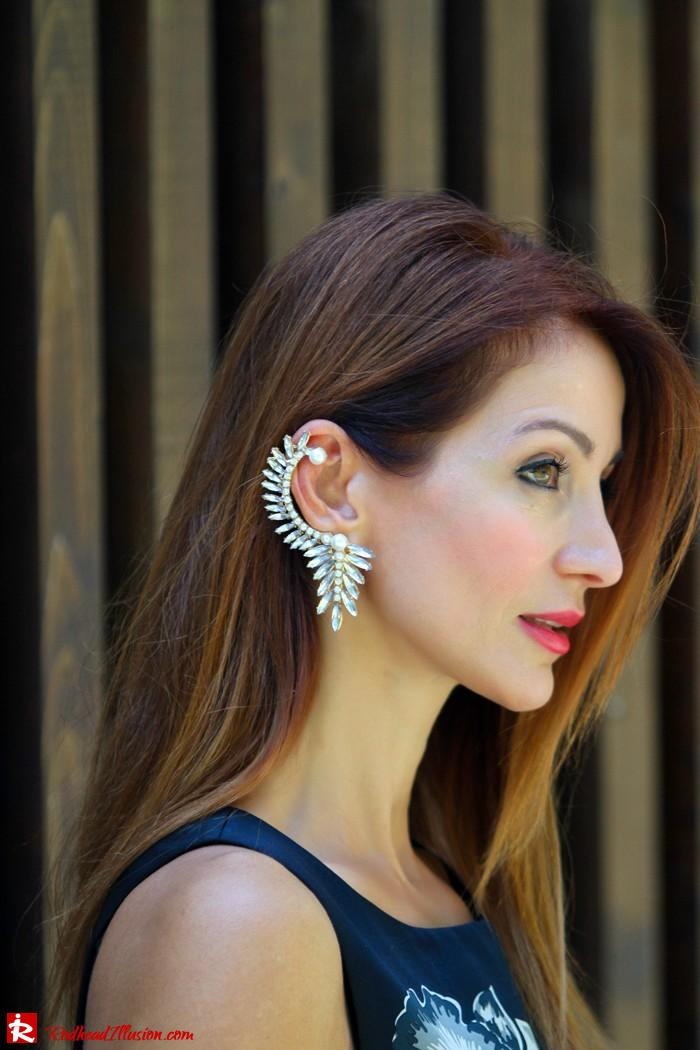 Redhead Illusion - Orchids - Embellishment Dress with Ear Cuff-05