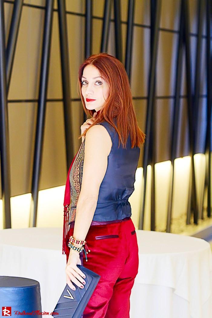 Redhead illusion - Red velvet - Altuzarra for target - Velvet Suit-06