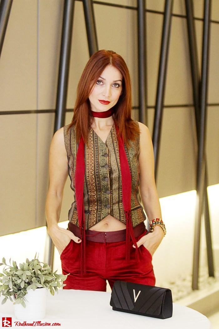 Redhead illusion - Red velvet - Altuzarra for target - Velvet Suit-09