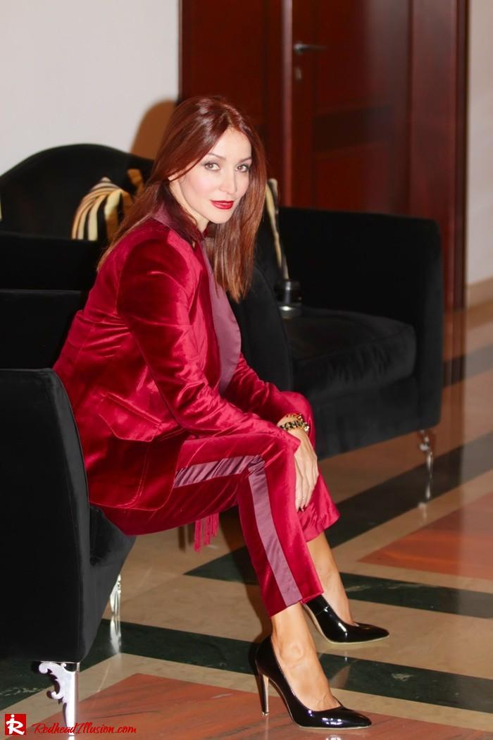 Redhead illusion - Red velvet - Altuzarra for target - Velvet Suit-12