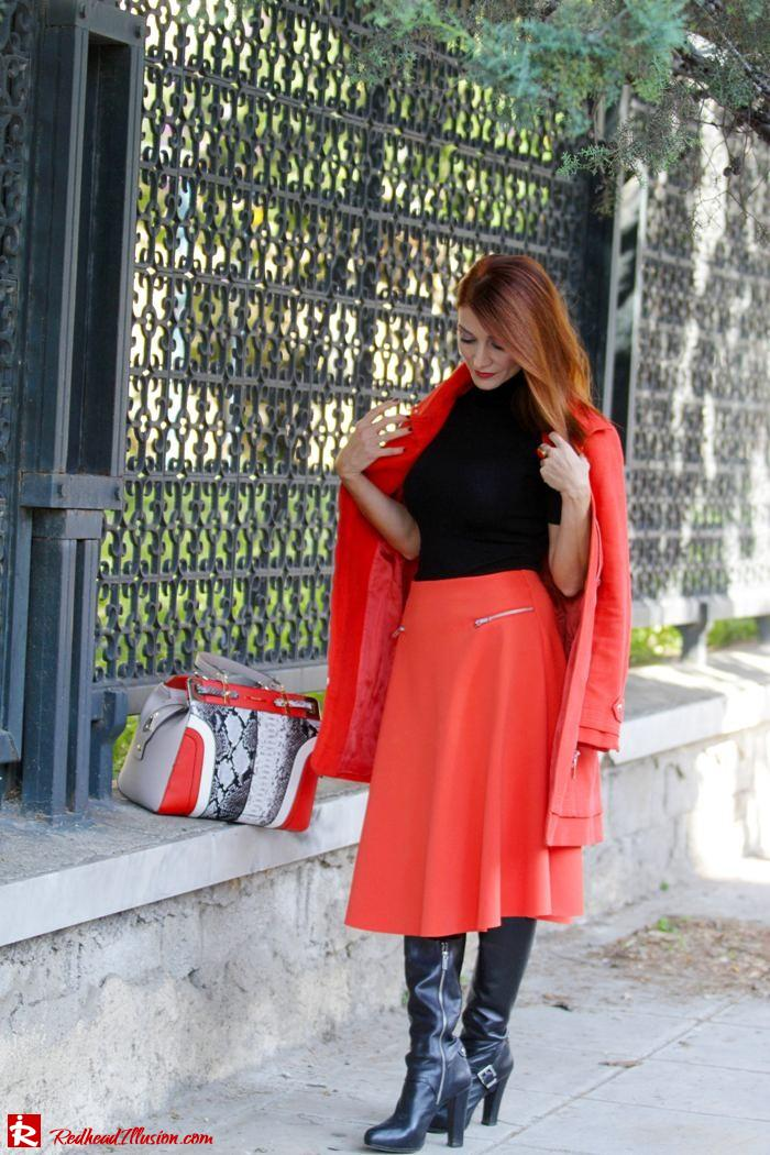 Redhead Illusion - Vitamin C - River Island Skirt - Karen Millen Coat-09