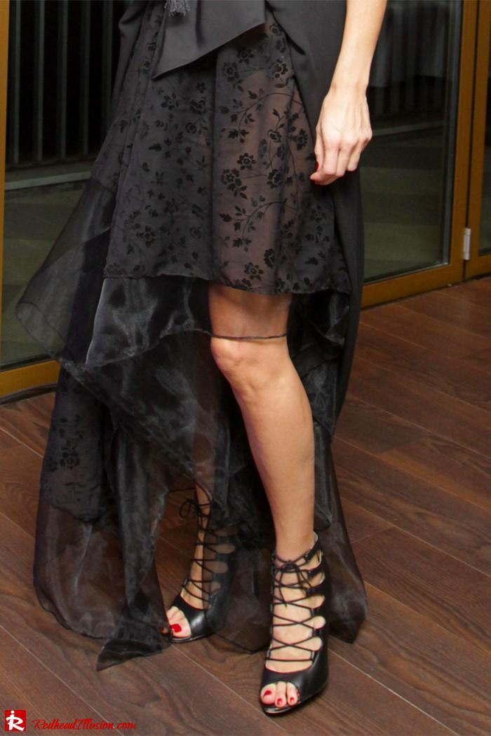 Redhead Illusion - Black Swan - Total Black Look - Amazing Skirt-02