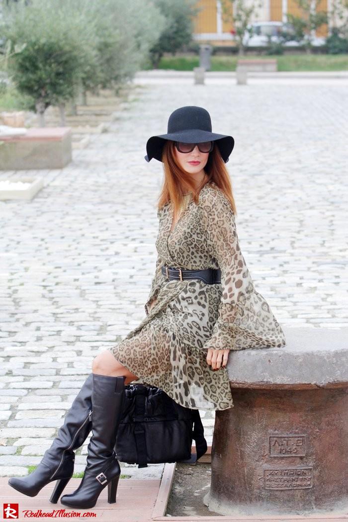 Redhead Illusion - Free Zone - Boho Style - Mix and Match Dress and Michael Kors Boots-05