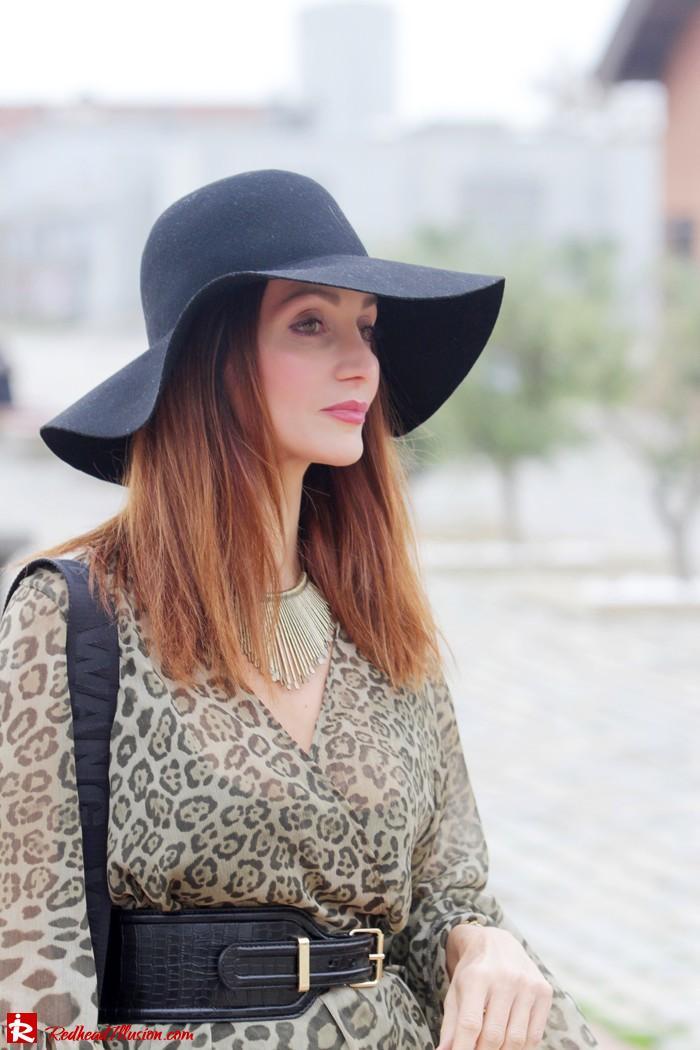 Redhead Illusion - Free Zone - Boho Style - Mix and Match Dress and Michael Kors Boots-09