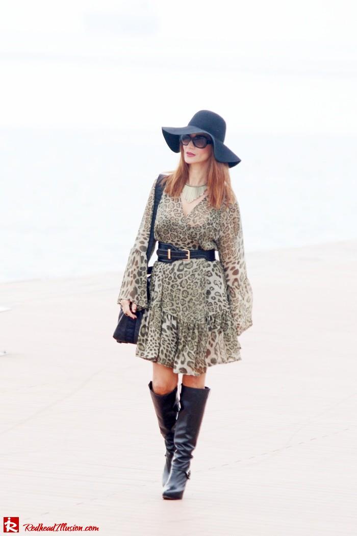 Redhead Illusion - Free Zone - Boho Style - Mix and Match Dress and Michael Kors Boots-11