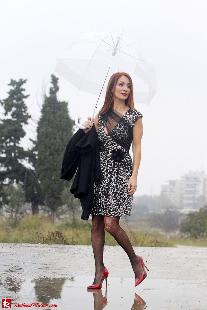 Redhead Iillusion - Fashion Blog by Menia - Rainy Day, Dream Away - Denny Rose Dress-06