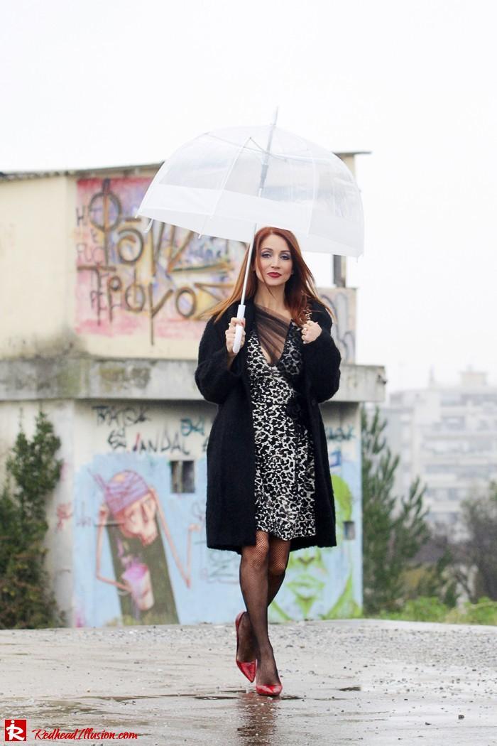 Redhead Iillusion - Fashion Blog by Menia - Rainy Day, Dream Away - Denny Rose Dress-10
