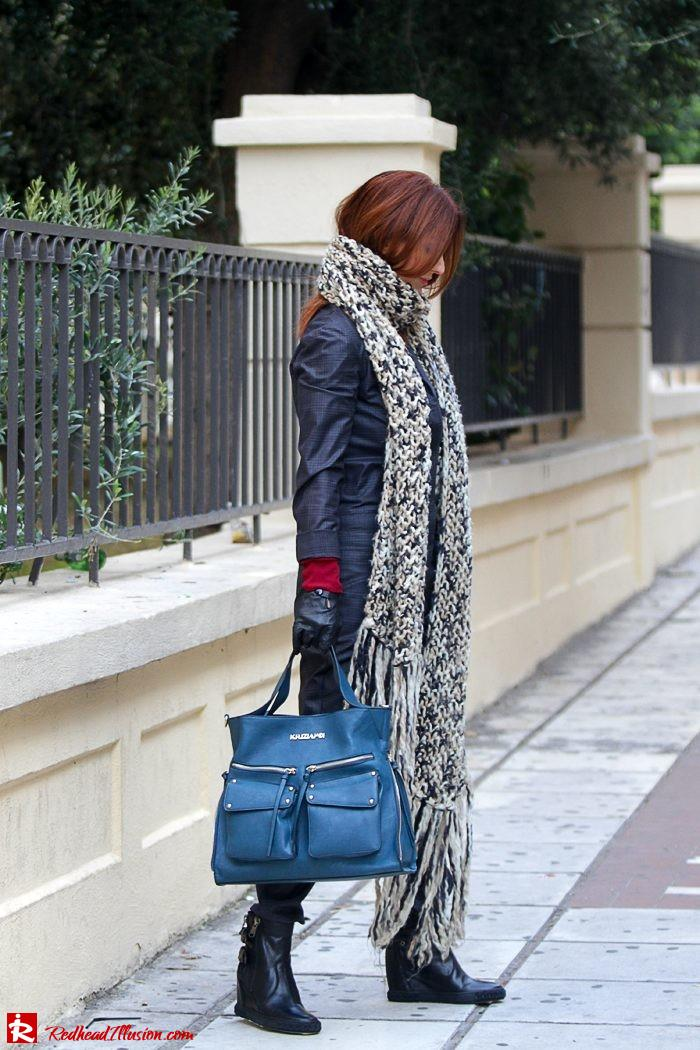 Redhead Illusion - Tomboy - Sisley Jumpsuit with knitted Scarf-07