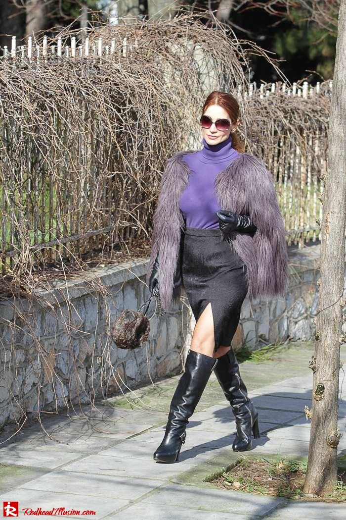 Redhead Illusion - Fashion Blog by Menia - Balance - Altuzarra Pencil Skirt with Supertrash Cape and Michael Kors Boots-03