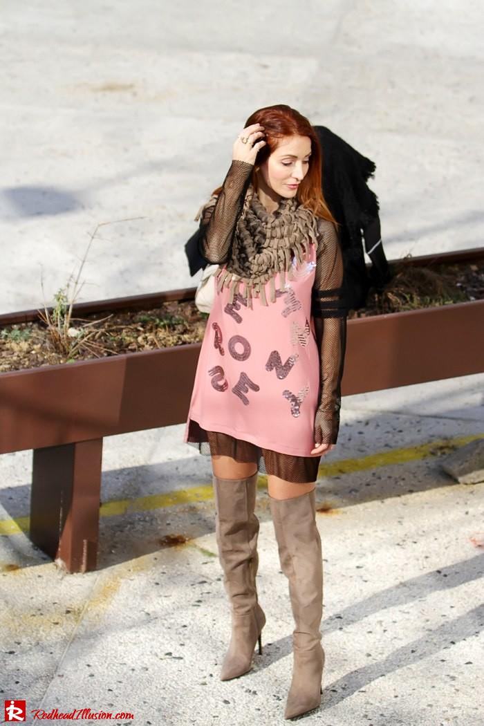 Redhead Illusion - Fashion Blog by Menia - High Obsession - Denny Rose Dress - Over the knee Boots-09