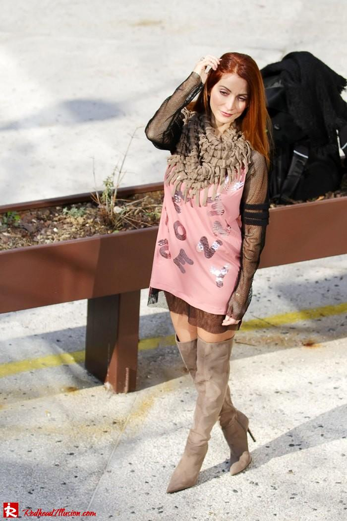 Redhead Illusion - Fashion Blog by Menia - High Obsession - Denny Rose Dress - Over the knee Boots-10