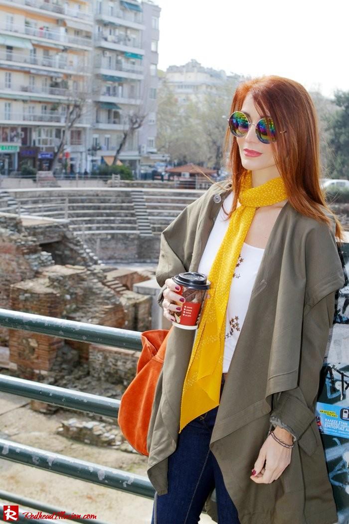Redhead Illusion - Fashion Blog by Menia - Modern... walk in the Ancient Roman Market - Assos Parka Jacket-02