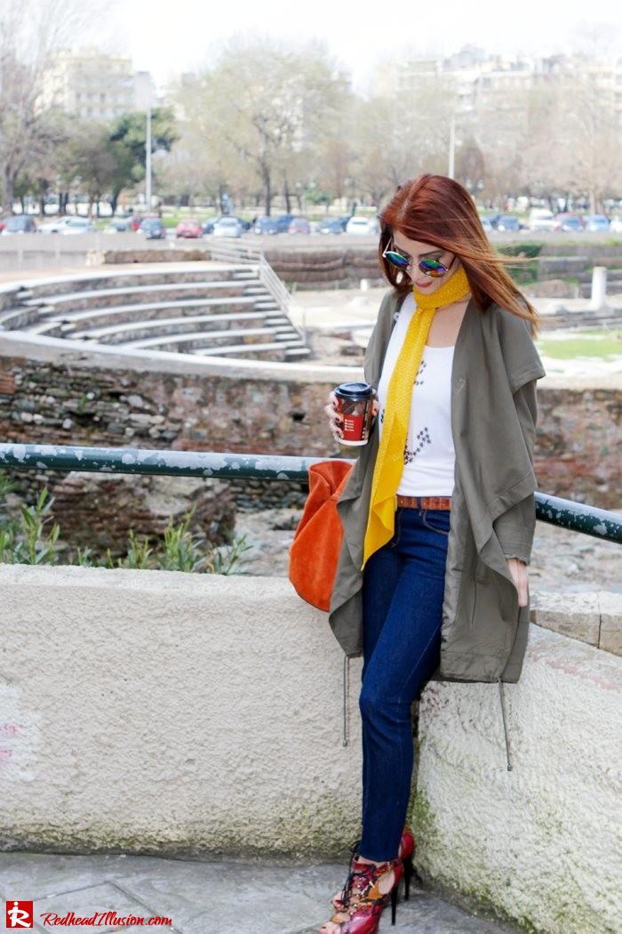 Redhead Illusion - Fashion Blog by Menia - Modern... walk in the Ancient Roman Market - Assos Parka Jacket-03
