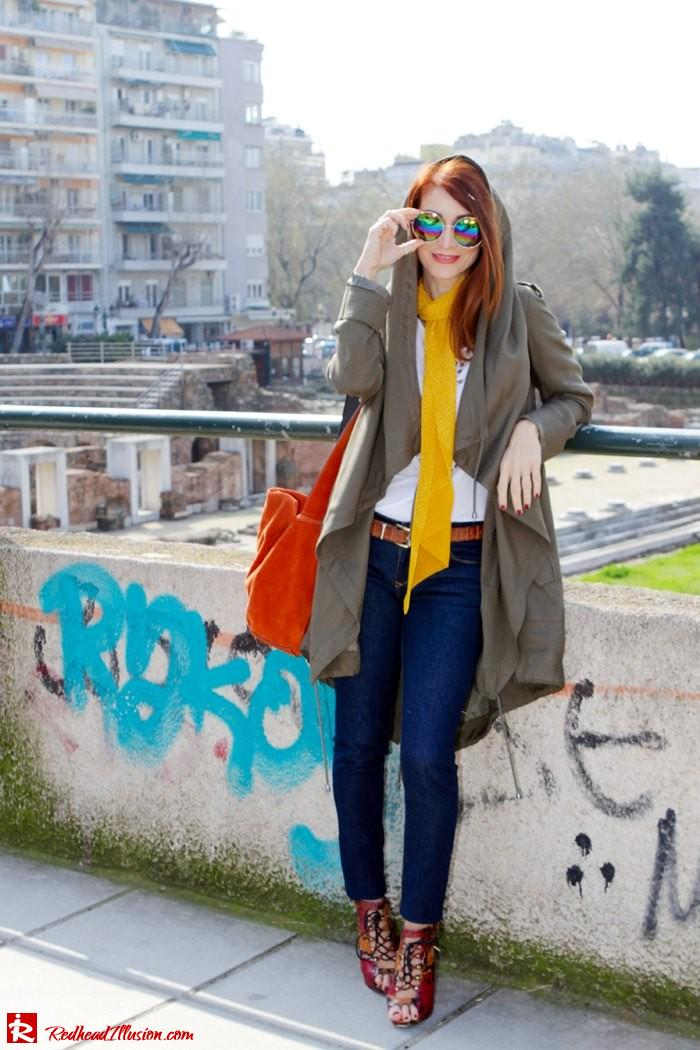 Redhead Illusion - Fashion Blog by Menia - Modern... walk in the Ancient Roman Market - Assos Parka Jacket-08