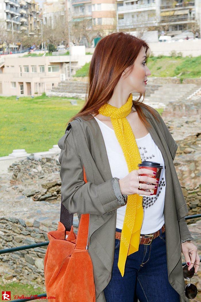 Redhead Illusion - Fashion Blog by Menia - Modern... walk in the Ancient Roman Market - Assos Parka Jacket-10