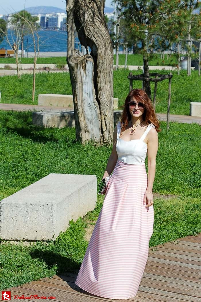 Redhead Illusion - Fashion Blog by Menia - Spring Pink! - Pink Skirt with Crop Top-04