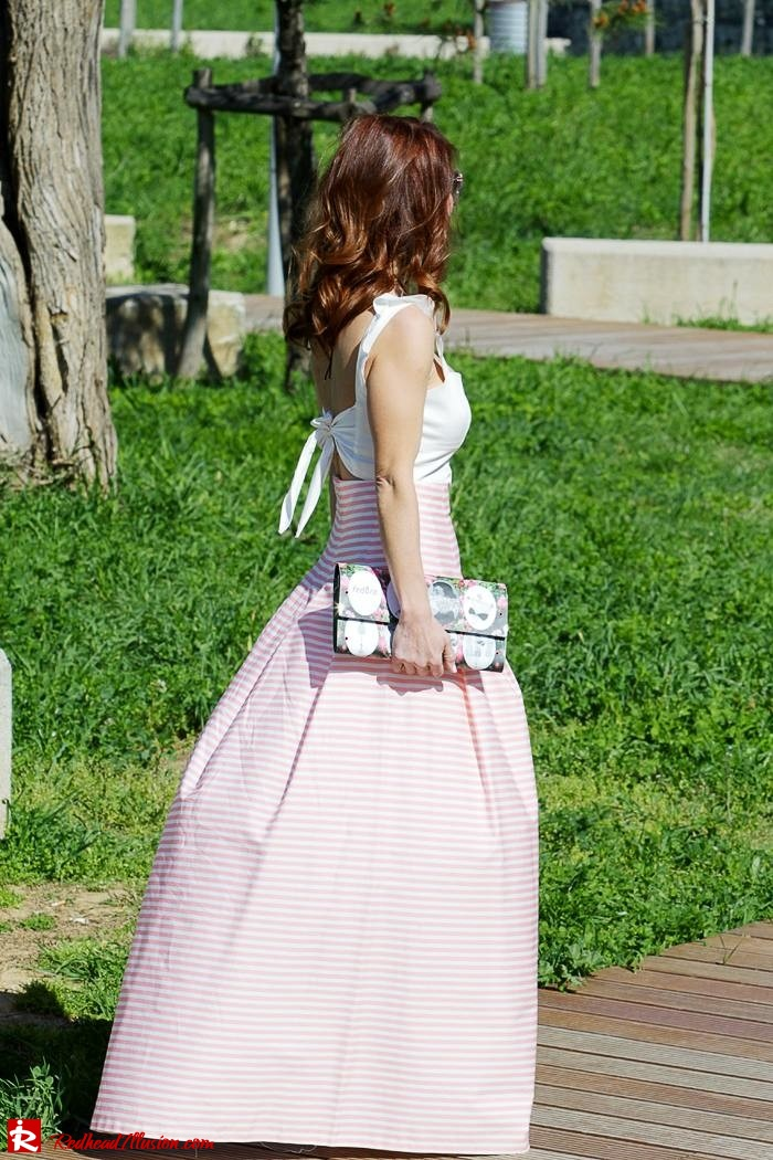 Redhead Illusion - Fashion Blog by Menia - Spring Pink! - Pink Skirt with Crop Top-09
