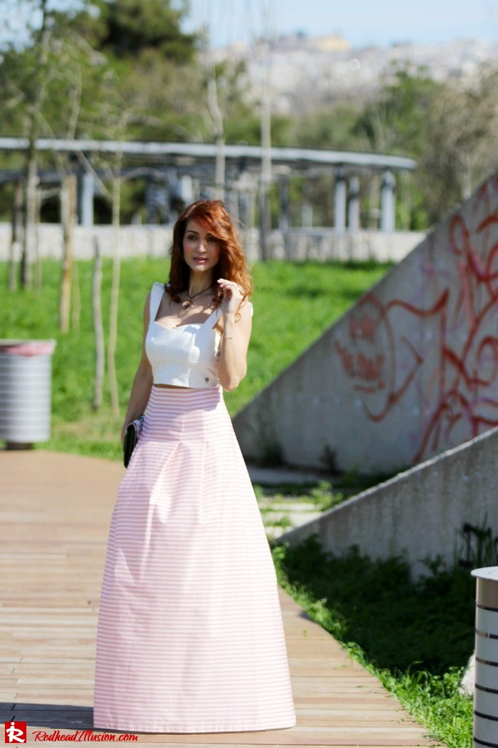 Redhead Illusion - Fashion Blog by Menia - Spring Pink! - Pink Skirt with Crop Top-10