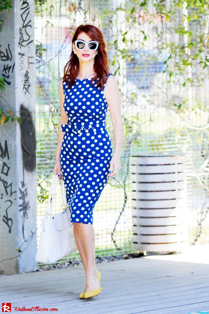 Redhead Illusion - Fashion Blog by Menia - Fashion Dots - Denny Rose Polka Dot Dress-02