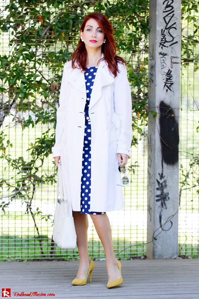 Redhead Illusion - Fashion Blog by Menia - Fashion Dots - Denny Rose Polka Dot Dress-11