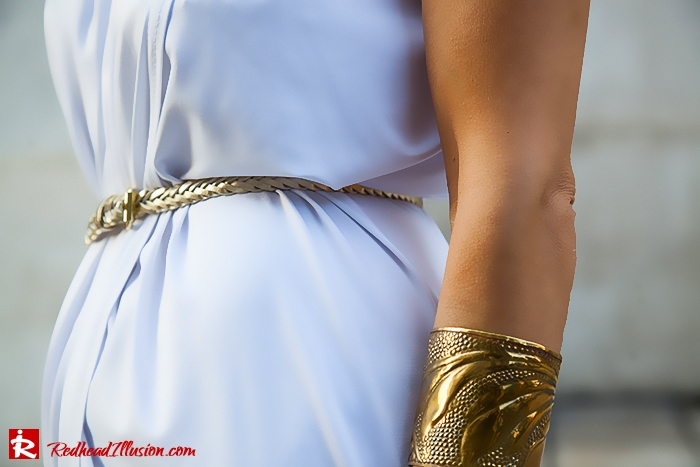 Redhead Iillusion - Fashion Blog by Menia - Grecian style - White Draped Dress-04