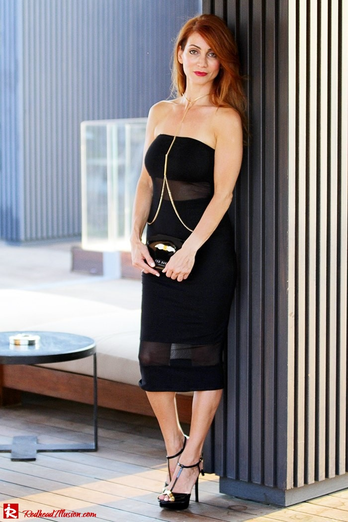 Redhead Illusion - Fashion Blog by Menia - Little Black Dress Asos - Ted Baker Clutch-04