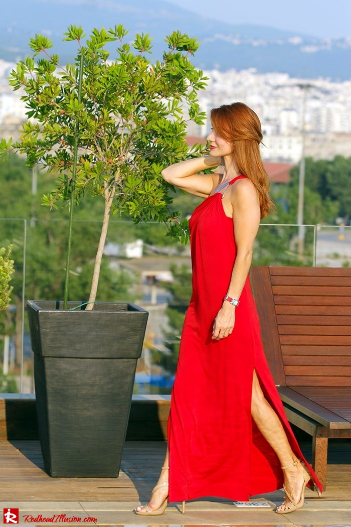 Redhead Illusion - Fashion Blog by Menia - Red party - Michael Kors Red dress-07