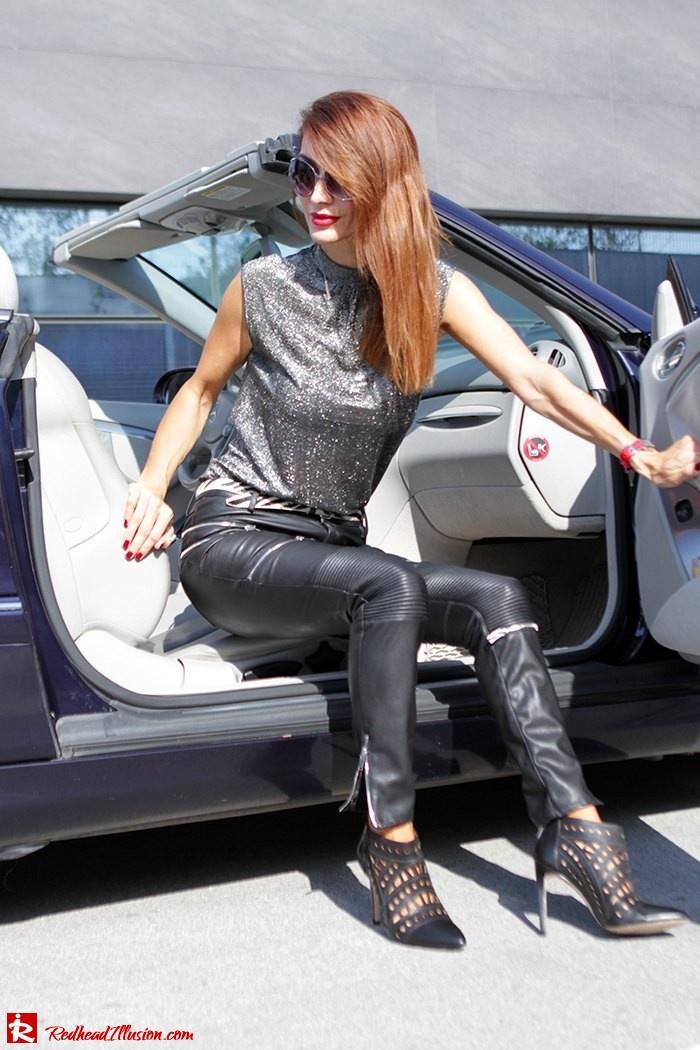 Redhead Illusion - Fashion Blog by Menia - Powerful Leather - Balmain Trench Coat - Zara Pants-04
