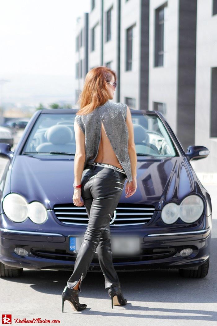Redhead Illusion - Fashion Blog by Menia - Powerful Leather - Balmain Trench Coat - Zara Pants-05