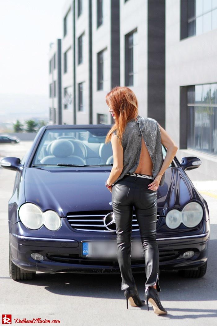 Redhead Illusion - Fashion Blog by Menia - Powerful Leather - Balmain Trench Coat - Zara Pants-06