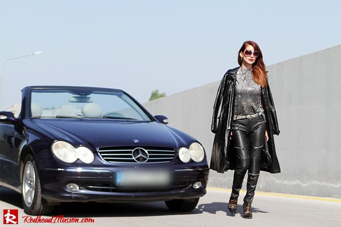 Redhead Illusion - Fashion Blog by Menia - Powerful Leather - Balmain Trench Coat - Zara Pants-10