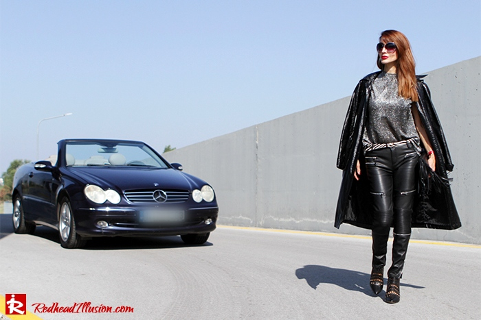 Redhead Illusion - Fashion Blog by Menia - Powerful Leather - Balmain Trench Coat - Zara Pants-11
