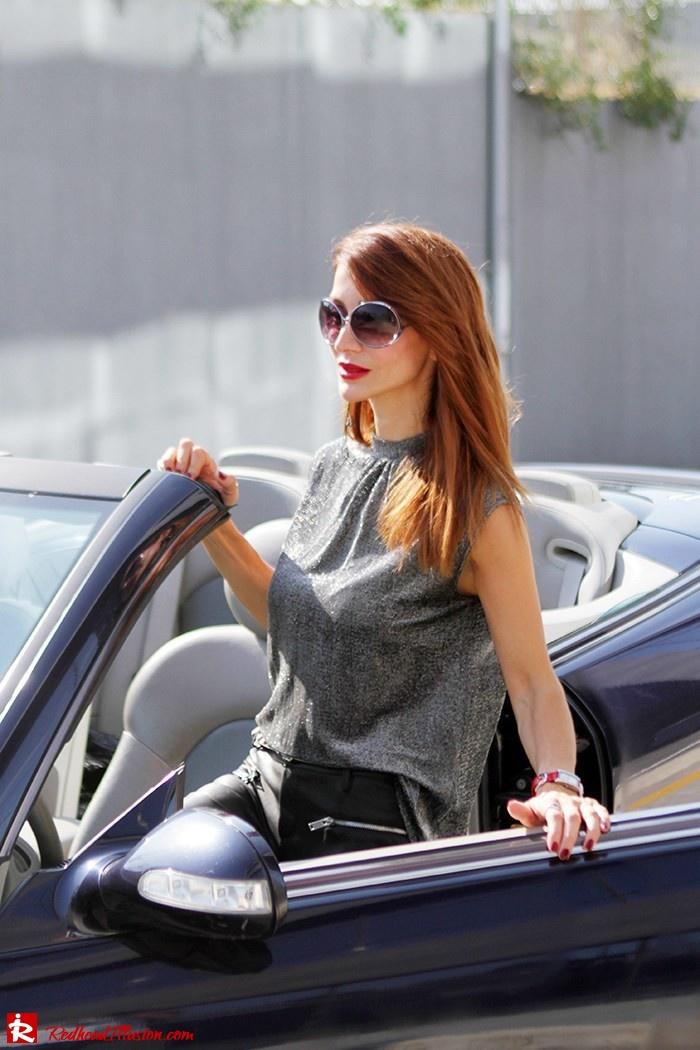 Redhead Illusion - Fashion Blog by Menia - Powerful Leather - Balmain Trench Coat - Zara Pants-12
