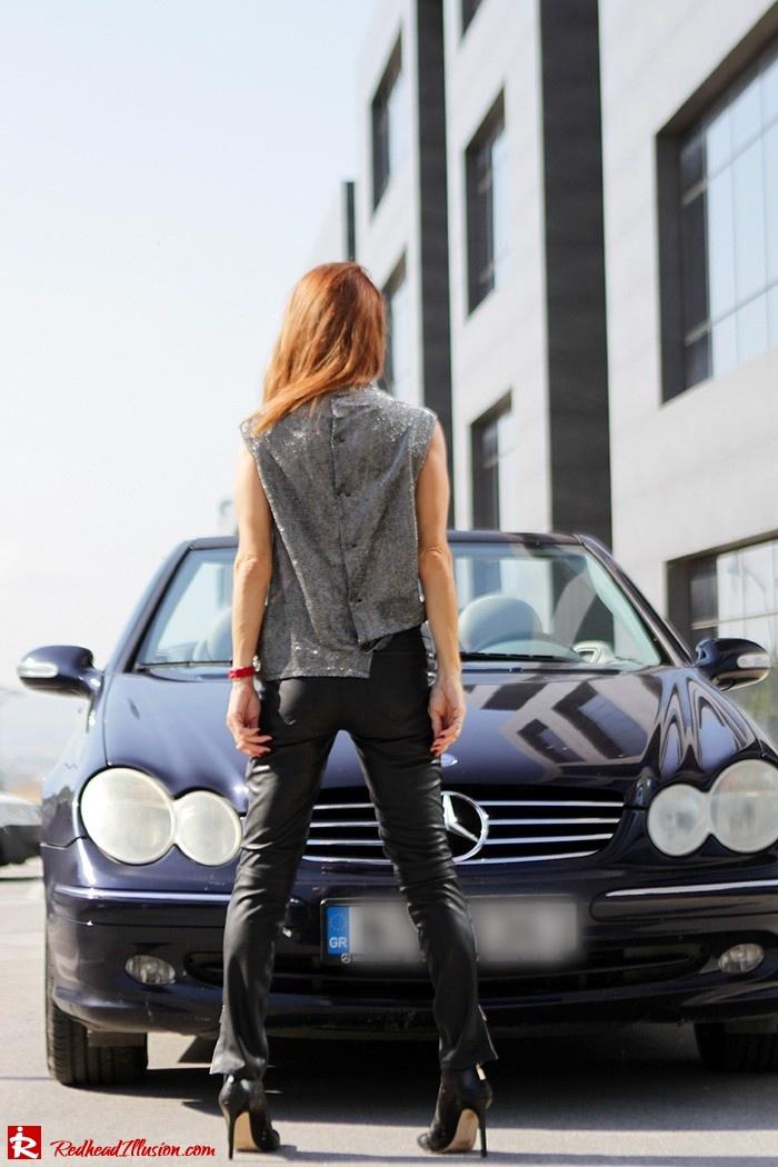 Redhead Illusion - Fashion Blog by Menia - Powerful Leather - Balmain Trench Coat - Zara Pants-14